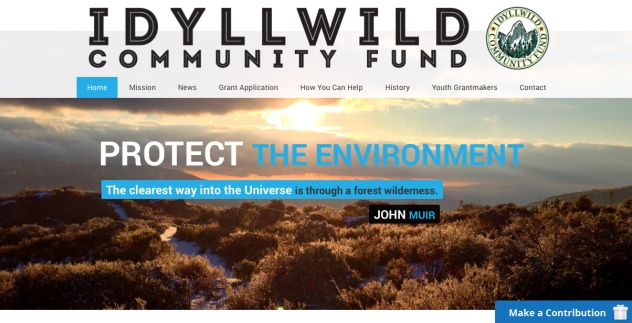Idyllwild Community Fund - Wordpress